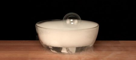 Dry Ice Floating Bubble