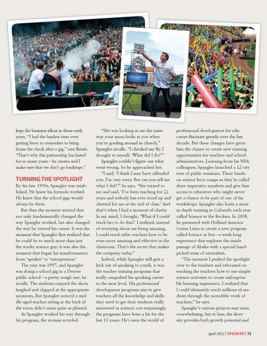 Meet the New Mr Wizard with Steve Spangler Speaker Magazine