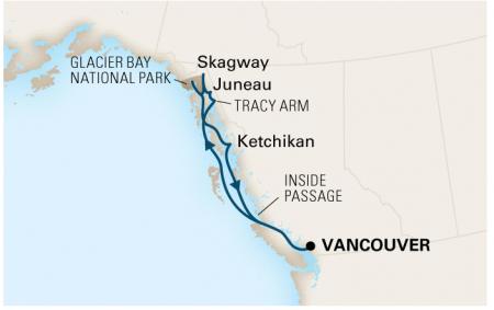 Alaska cruise map - Steve Spangler