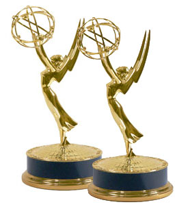 Steve Spangler Emmy on white