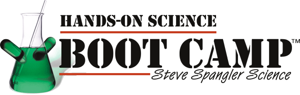 Steve Spangler Science Hands-on Boot Camp Logo large