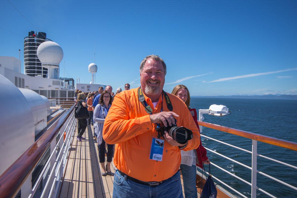 Science at Sea cruise ship deck