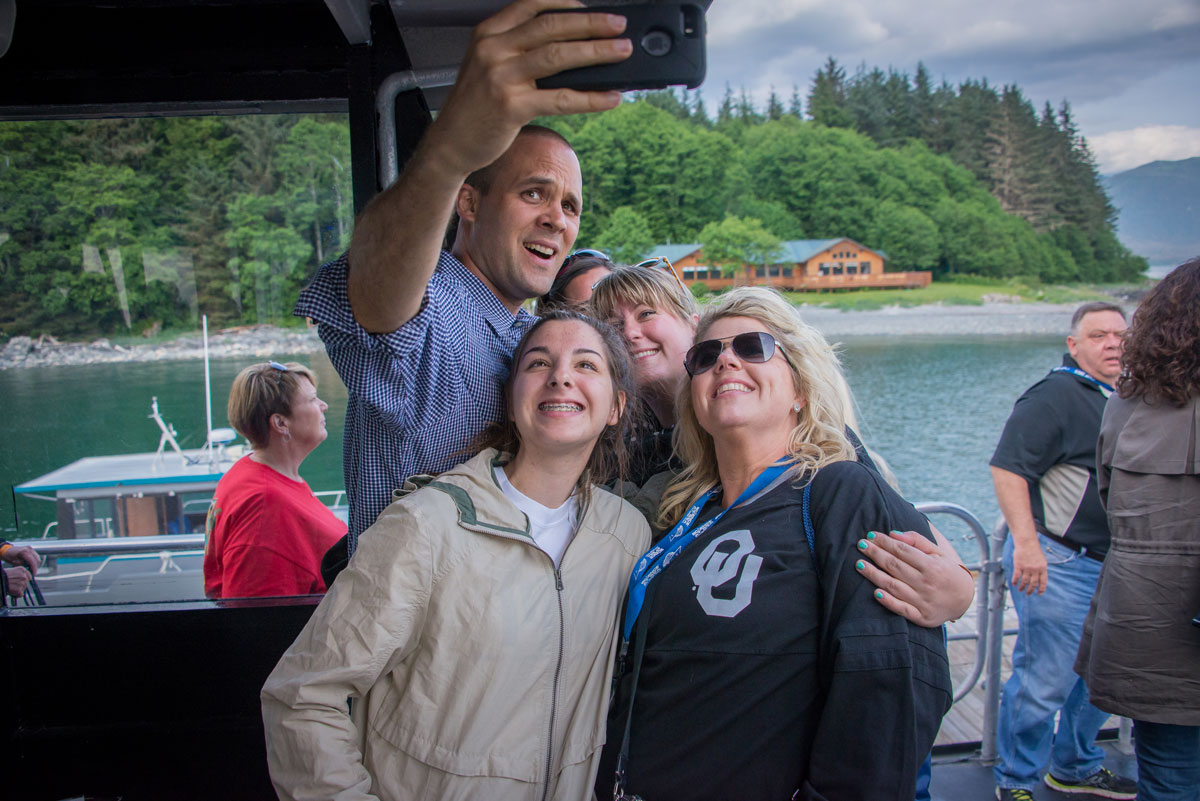 Teachers taking selfie during Science at Sea in Alaska