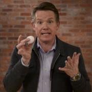 Steve Spangler holds an egg