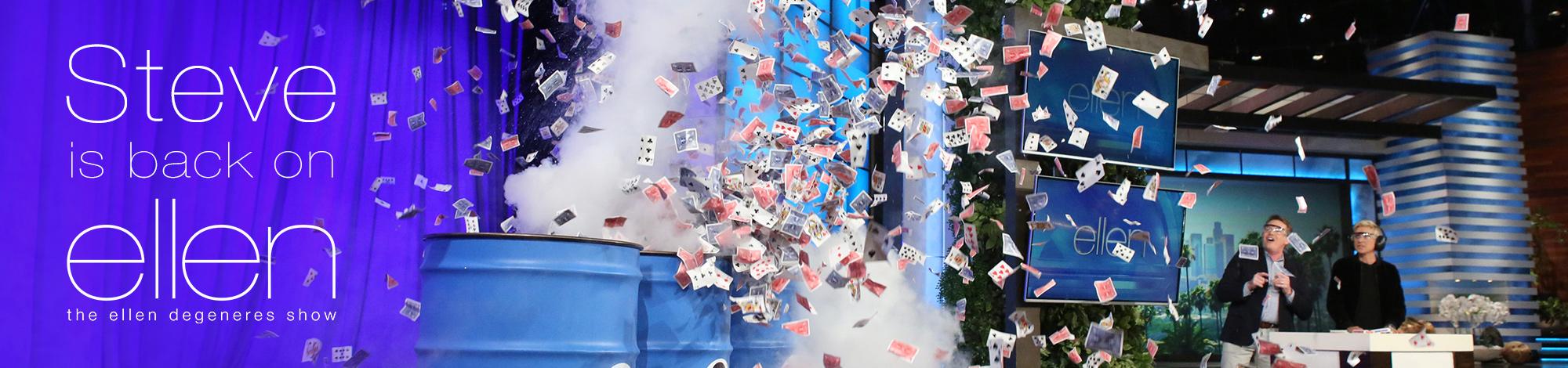 Ellen and Steve Card Trick Banner