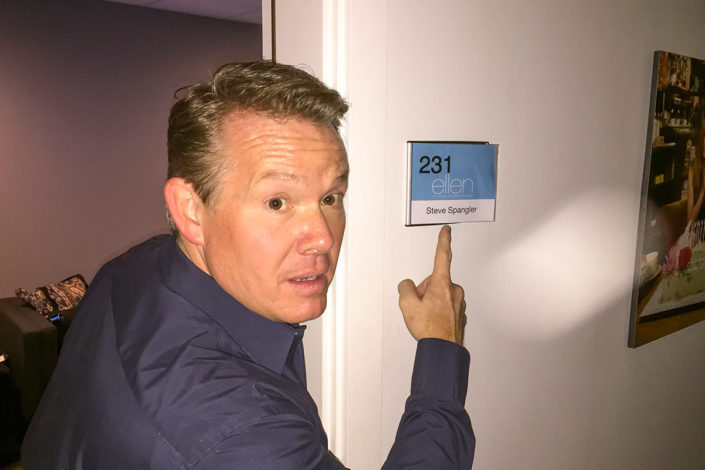 Steve Spangler at Ellen Dressing Room