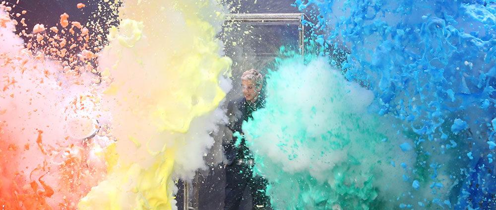 Ellen Show Colorful Explosion