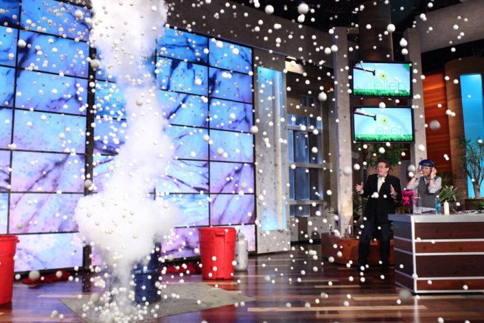 Steve Spangler on The Ellen Degeneres Show Exploding 4,000 Ping Pong Balls