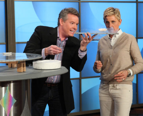 Steve Spangler Hovering a Super Cooled Magnet on The Ellen DeGeneres Show