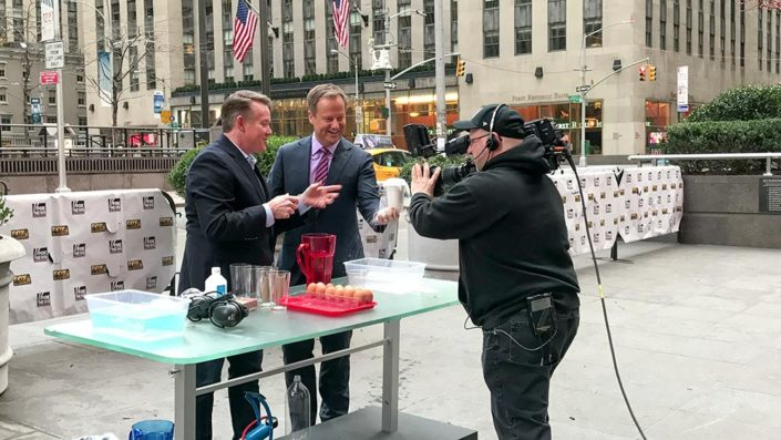 Steve Spangler Showing Insta-Snow on FOX and Friends