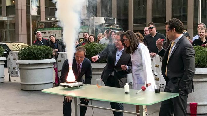 Steve Spangler doing experiments on FOX and Friends
