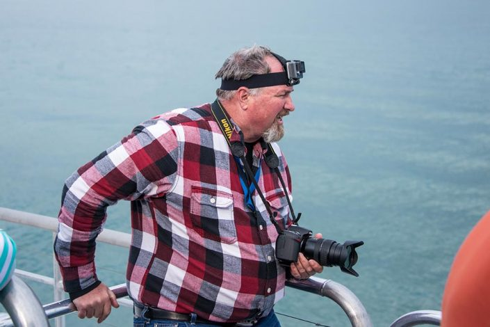 Photographer at Science at Sea 2017 in Alaska