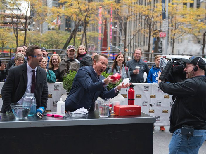 Steve Spangler on FOX and Friends in New York with Super Slime and Spangler Science Club STEM Kit