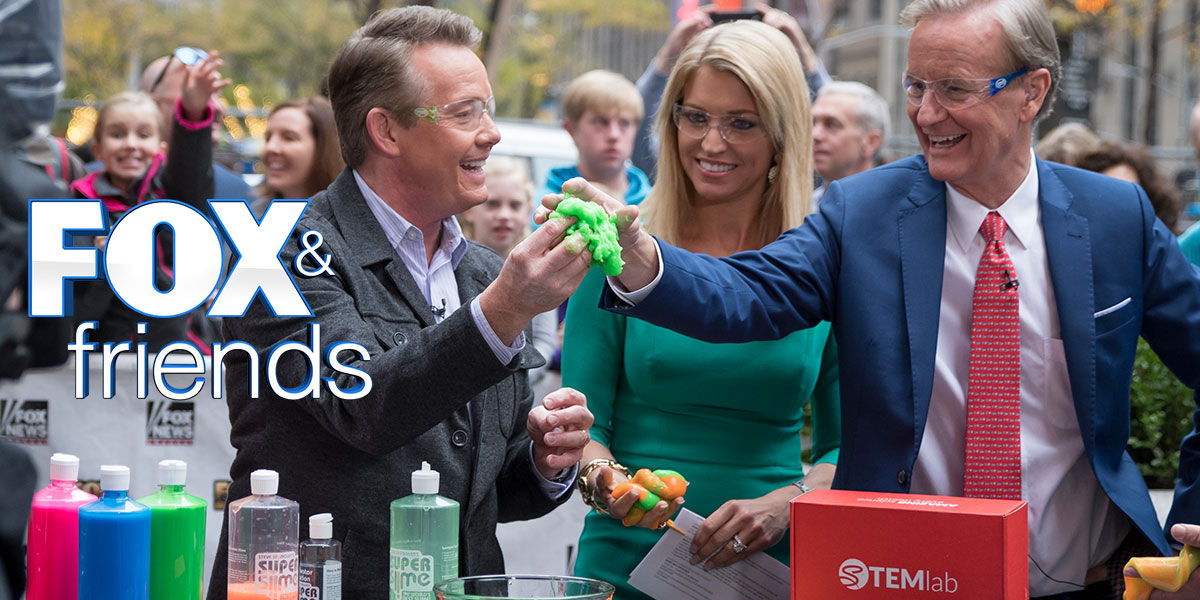 Steve Spangler on FOX and Friends New York with Super Slime and Spangler Science Club