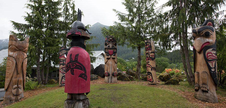 Totem Park in Ketchikan Alaska