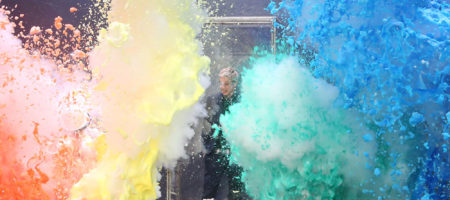 Ellen Show Colorful Explosion