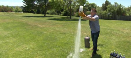 Liquid Nitrogen Rocket with Steve Spangler on DIY Sci
