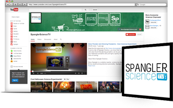 Screenshot of the Spangler Science TV YouTube channel